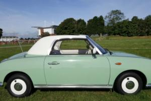 NISSAN FIGARO CONVERTIBLE STUNNING LITTLE CLASSIC ,EVERYONE'S HAPPY TO SEE IT!