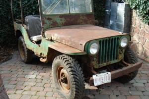 willys jeep cj2a VEC jeep very early column shift classisc car barn find Photo