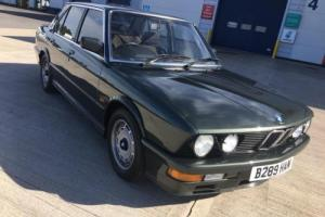 1985 BMW M535i - Low Mileage , Only 3 previous Owners