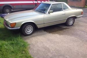 classic mercedes r107 280sl running restoration project