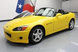 2001 Honda S2000 CONVERTIBLE 6-SPEED LEATHER