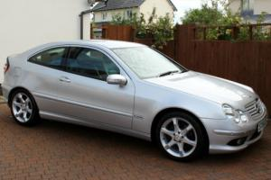 MERCEDES C180 K SPORT EDITION AUTOMATIC, IRIDIUM SILVER, LEATHER, IMMACULATE..