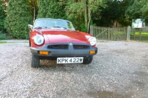 MGB sports convertible 1980 with overdrive