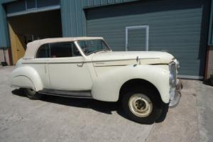 1950 Humber Super Snip Tickford Convertible for restoration, rare car