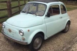 Italian FIAT 500 Nuevo 1967 blue original excellent condition MUST SEE