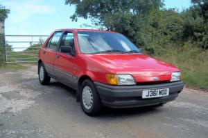 1991 FORD FIESTA 1.4 GHIA IN RED, GENUINE 41,000 MILES, M.O.T. JUNE 2017 Photo