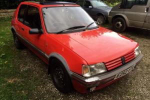 Peugeot 205 gti BARN FIND twin 40 webbers, drives, spares or repair