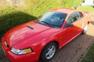 2000 Ford Mustang V6, 32,000mls automatic, leather, fantastic in red.