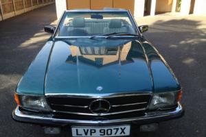 1981 MERCEDES 280 SL AUTO GREEN