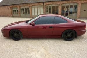 BMW 850I V12 AUTO 1993 FINISHED IN METALLIC CALYPSO RED SCHNITZER TOTAL GREY INT for Sale