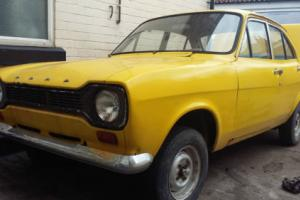 escort mk1 1973 rare retro barn find 4dr mark 1 unfinished project solid shell