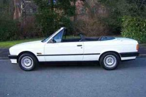 BMW E30 318i Convertible Cabriolet in amazing condition, very low mileage