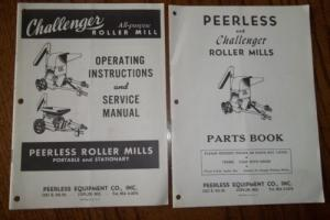 Vintage 1960 Peerless Challenger Roller Mills Parts Operators Service Manuals Photo