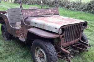 Willys jeep ww2 1942 GPW ford jeep classic car military vehicle barn find