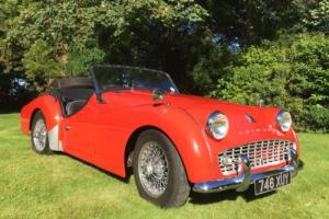 1959 Triumph TR3a roadster excellent condition wire wheels wet weather equipment