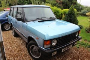 1984 ROVER RANGE ROVER BLUE - 60,000 MILES EVERY MOT FROM NEW!!!