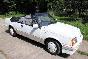 1986 VAUXHALL CAVALIER 1.8 CABRIOLET CONVERTIBLE ONLY 7,000 MILES FROM NEW.
