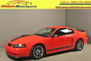 2004 Ford Mustang 2004 MACH 1 PREMIUM MANUAL CD6 COUPE305+HP 31K MLS