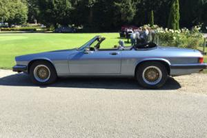 Jaguar XJS convertible Artic Blue with Saville grey leather Gm400 Auto Box-AJ6