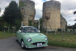 Nissan Figaro Green Convertible 1950's style Rockabilly 1.0 litre Turbo Rare Car for Sale