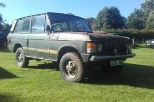 Early Suffix B 2 Door Range Rover Classic & Lots Of Parts, Tax Exempt