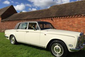 rolls royce silver shadow1975,old english white with brown everflex roof,no swap