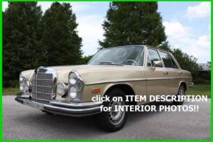 1969 Mercedes-Benz S-Class 1969 MERCEDES BENZ 280 SE W108 ORIGINAL NO RESERVE