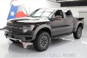 2013 Ford F-150 SVT RAPTOR CREW 6.2L 4X4 SUNROOF NAV