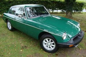 MG B GT 1.8 GREEN RUBBER BUMPER 1977