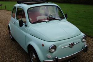 Fiat 500 F -round speedo-immaculate-best colour combo -1967