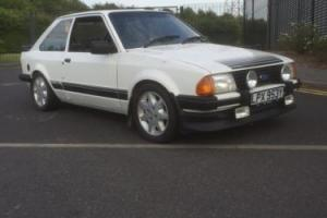 1983 Ford Escort RS1600I White Not RS Turbo Xr3i MK3 for Sale
