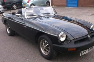1980 MGB ROADSTER IN BLACK WITH FRESH MOT READY TO DRIVE AWAY