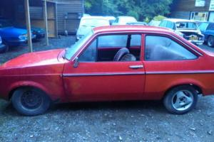 1978 MK2 FORD ESCORT - LHD - 2 DOOR RALLY SHELL - HAS RUST BUT COMPLETE