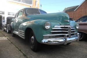 1948 CHEVROLET FLEETLINE FASTBACK OLDER RESTORATION TWO TONE GREEN DRIVER
