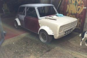 classic mini 1275 gt black race rally roll cage flip front no reserve