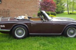 1970 Triumph TR-6 Burgundy Photo