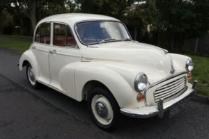 Morris Minor four door saloon. Totally rebuilt and ready for its new owner.