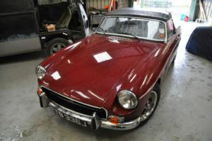 1971 DAMASK RED CHROME BUMPER MG MGB ROADSTER, FULL MOT, VERY RELIABLE, ROSTYLES Photo