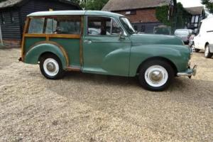 1969 MORRIS MINOR TRAVELLER 1000 GREEN - MOT 24 JULY 2017
