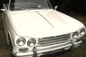 1971 TRIUMPH VITESSE MK2 CONVERTIBLE  OVERDRIVE HOME MARKET CAR,HERITAGE CERT Photo