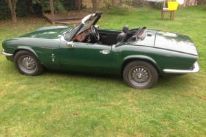 Triumph Spitfire 1500 very solid car in British racing green 1978 Photo