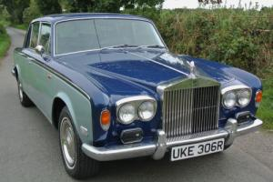 1977 ROLLS ROYCE  SILVER SHADOW BLUE/SILVER