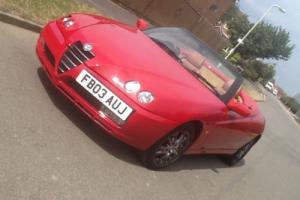 "Alfa Romeo Spider 2.0  JTS  Lusso  END  OF SUMMER. ""GENUINE BARGAIN "" Photo"