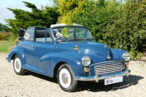 1970 Morris Minor 1000 Convertible. Disc Brakes, Mohair Hood.