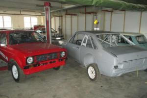 Very nicely prepared Mk2 Ford Escort rally rolling shell
