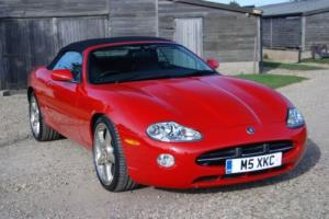 Jaguar XK8 Convertible, Phoenix Red, Detroit alloys/PZeros, 49k miles & 2 owners