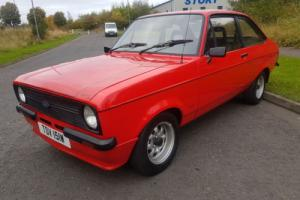 1980 FORD ESCORT 1600 SPORT RED - VERY GOOD LOOKING CAR - 1 YEARS MOT