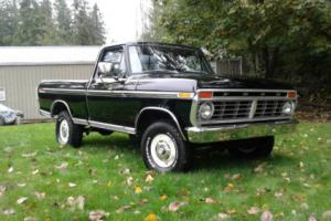 1974 Ford F-150 Ranger XLT SWB 4x4 Raven Black 390 AT AC SHOW TRUC Photo