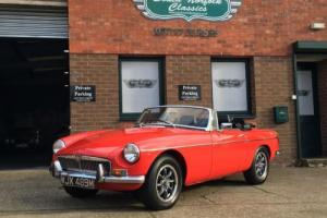 1974 MGB Roadster Tartan Red, Nut and Bolt restored in 2012