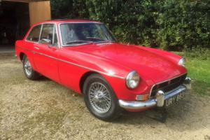 MGB GT 1970 12 Months MOT  Genuine Chrome Bumper  Wires   Sunroof   O/D
